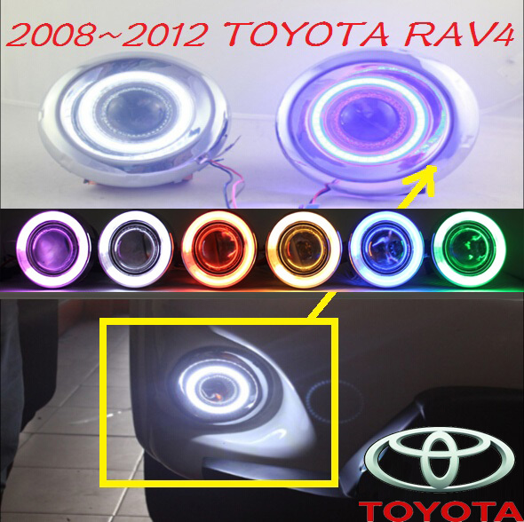 Car-styling,RAV4 fog lamp,2008~2012,chrome,LED,Free ship!2pcs,RAV4 head light,car-covers,Halogen/HID+Ballast;RAV4 car styling rav4 taillight 2009 2012 led free ship 4pcs set rav4 fog light car covers chrome car detector rav4 tail lamp rav 4