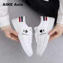2019 Spring And Summer New White Shoes Fashion Flat Shoes
