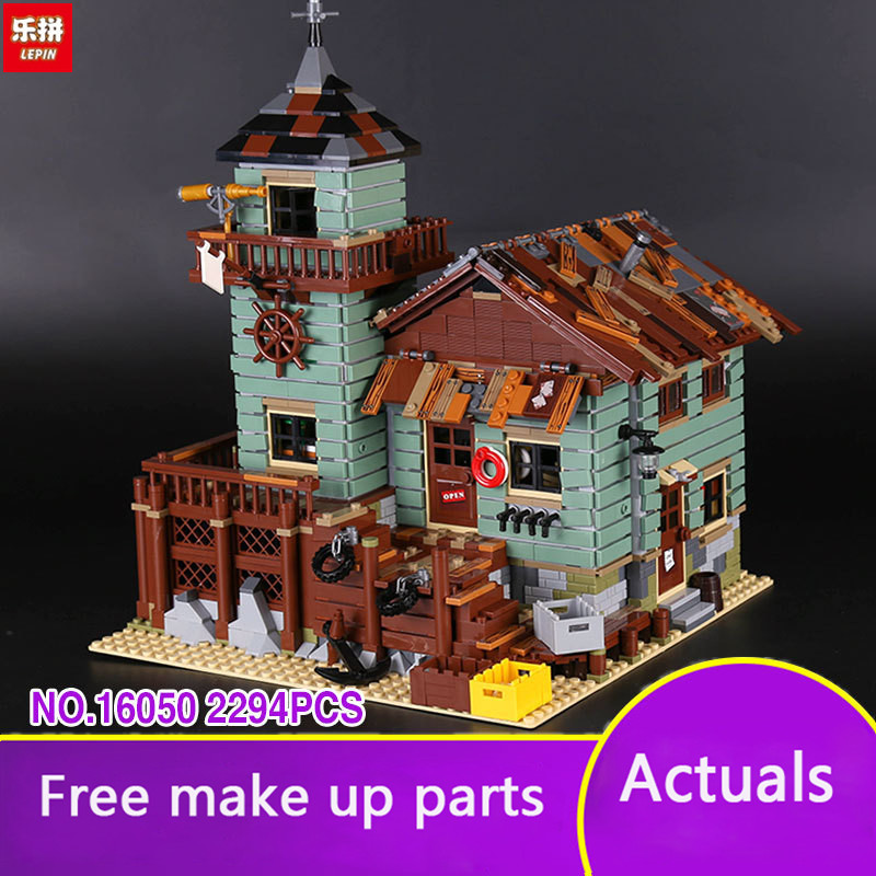 Lepin 16050 The Old Fishing Shop Listed Genuine 2294 Pieces MOC Series Building Blocks Bricks Educational 21310 Christmas LP041 the old perversity shop