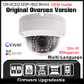 Oem ds-2cd2120f-is (2.8mm) hik inglês versão câmera ip câmera de segurança 1080 p cctv câmera de 2mp poe ipc onvif p2p hikvision h265
