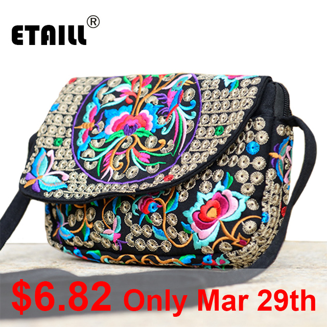 Ethnic Indian Embroidered Small Sling Shoulder Bag Handmade Fabric Embroidery Crossbody Bags Luxury Brand Messenger Bag 5