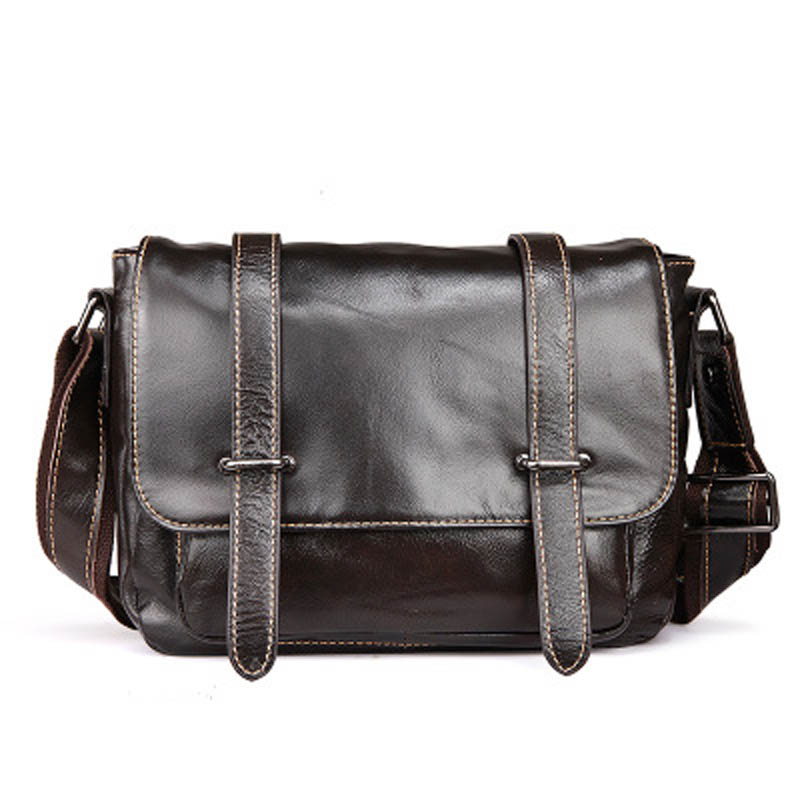 YISHEN Fashion England Style Men Messenger Bags Genuine Cow Leather Male Crossbody Bags Casual Vintage Men Shoulder Bag LS0071-1 new style messenger bag men leather top grade all match hasp fashion retro cow leather men bag solid color small shoulder bags