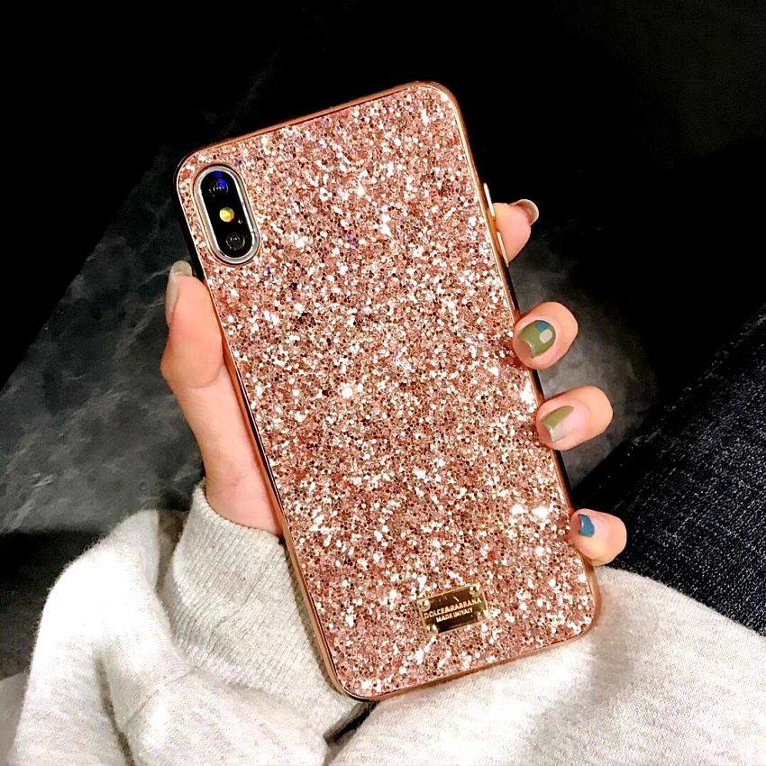 Luxury brand Bling Case For iphone 8 Plus 6s iphone X XS Max XR XS 10 Glitter 7plus Coque Cover For iphone 7 Plus  6 s Plus Case (1)