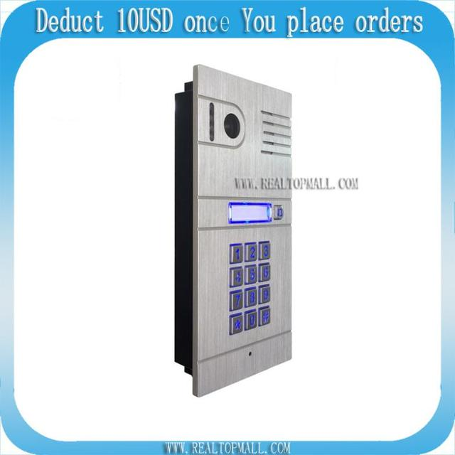wireless IP video intercom Wifi Video door phone  IP camera smart phone control free Android APP and iOS APP