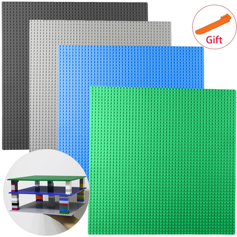 Small Bricks Building Block DIY Baseplates 32*32 Dots Base plate 25*25cm Toys Two Sides Compatible with major brand blocks new big size 40 40cm blocks diy baseplate 50 50 dots diy small bricks building blocks base plate green grey blue