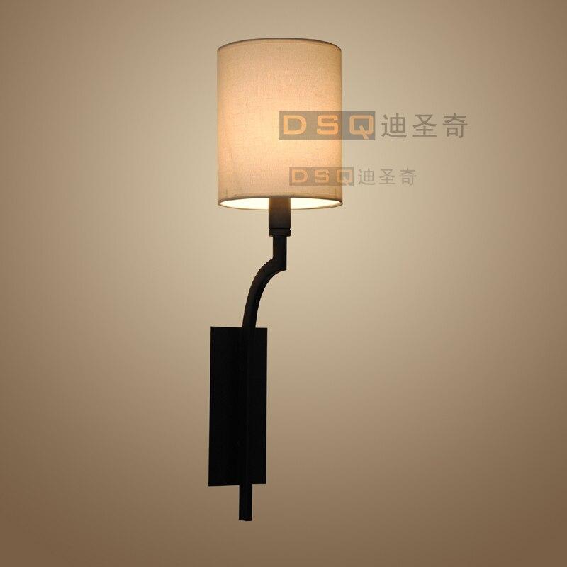 ФОТО American country cloth wall corridor room lamp bedside lamp