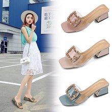Hersevll/летние тапочки; женская обувь; шлепанцы на высоком каблуке с открытым носком; женские босоножки со стразами; женская обувь; sapato feminino