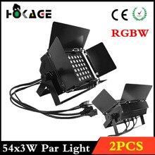 2CS/RGBW LED PAR 54X3 W Luz de la Igualdad, DMX512/luces de la Televisión, barra de luces etapa profesional equipo de DJ luces de discoteca