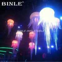 Hot sale birthday party inflatable lighting jellyfish balloon hanging led lamp inflatable medusa for holiday events decoration