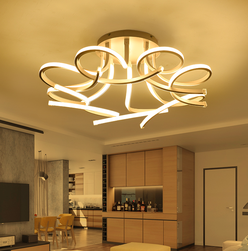 New Design Acrylic lotus Led Ceiling Lights For Living Study Room Bedroom lampe plafond avize Indoor
