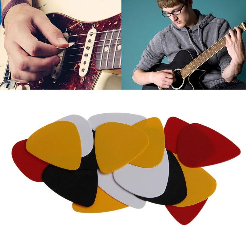 New 100Pcs Acoustic Electric Guitar ABS Picks Plectrum Plectra Various 0.50mm Drop Ship