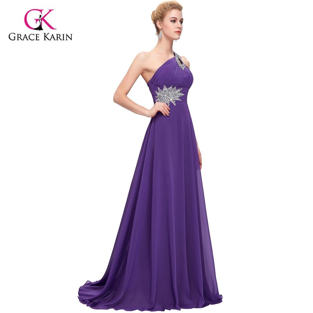 Excepcional Vestido De La Dama De Honor De Un Hombro Pura Galería ...