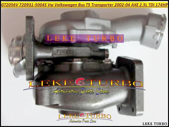 GT2052V 720931 720931-0004 720931-0001 070145702A Turbo Turbocharger For Volkswagen VW T5 Transporter 2002-04 AXE 2.5L TDI 174HP