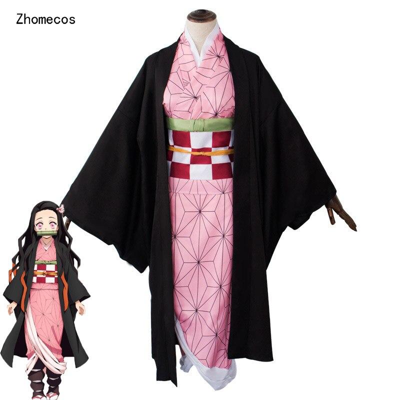Zhomecos Anime Demon Slayer Kimetsu No Yaiba Cosplay Costume Kamado Nezuko Agatsuma Zenitsu Tomioka Giyuu Kimono