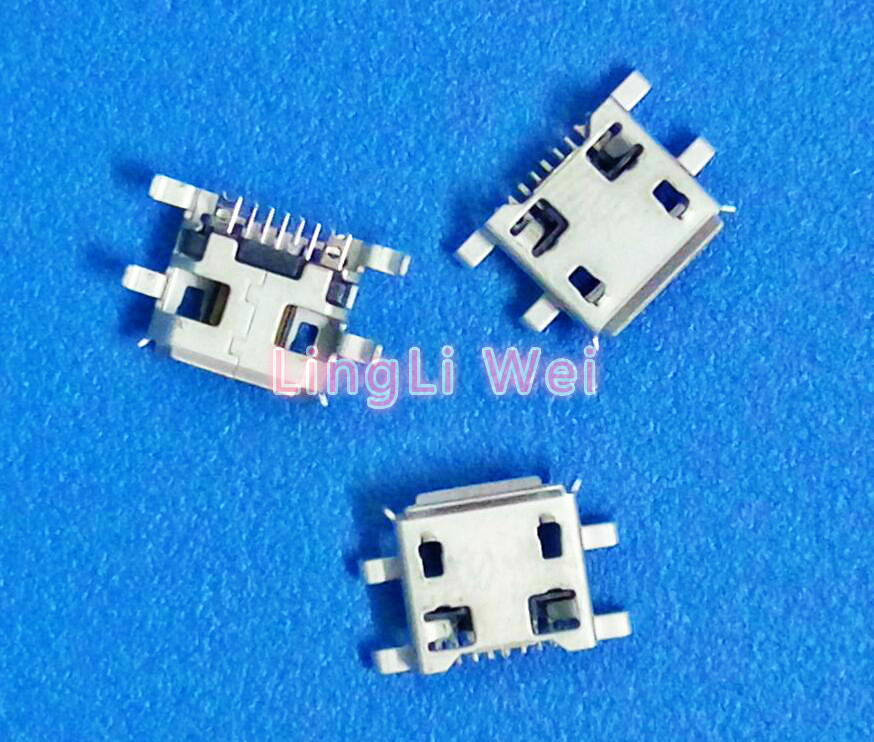 50pcs lot Micro USB 5pin heavy plate 0.72mm Female Connector have curling side Female Jack For Mobile Mini USB repair mobile 10pcs lot micro usb connector jack