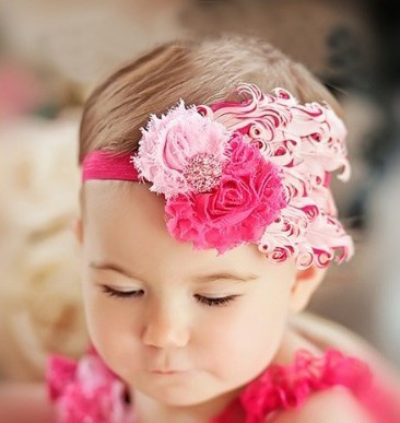 d00754a3eb989 1 pieces fashion feather headband baby hair flower band girls flowers  headbands children hair accessories-in Hair Accessories from Mother   Kids  on ...
