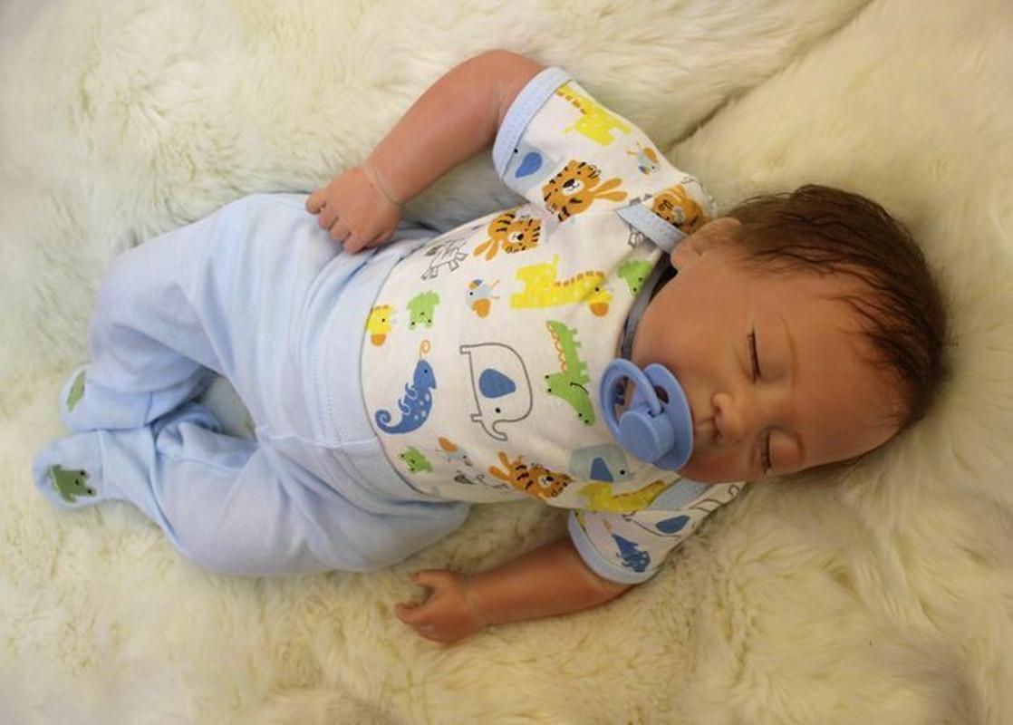 18'' Reborn Baby Boy Doll Simulation Newborn Soft Toy Kid Birthday Gift Handmand American Doll Toddler Boy Toys