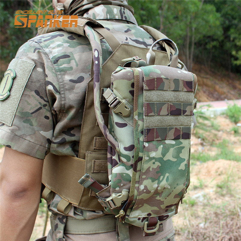 ФОТО SPANKER Tactical Molle Hydration Backpack Outdoor Cycling Water Bladder Bag Rucksack Hunting Shoulder Bags Military Outdoor Bag