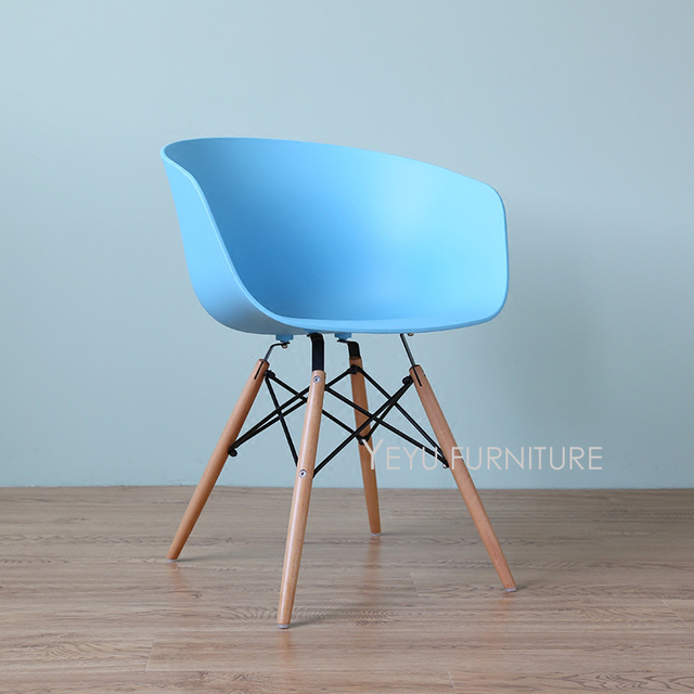fashionable design teal dining chairs. Modern Design Classic Plastic Solid wooden Leg Dining arm Chair  fashion loft design cafe chair