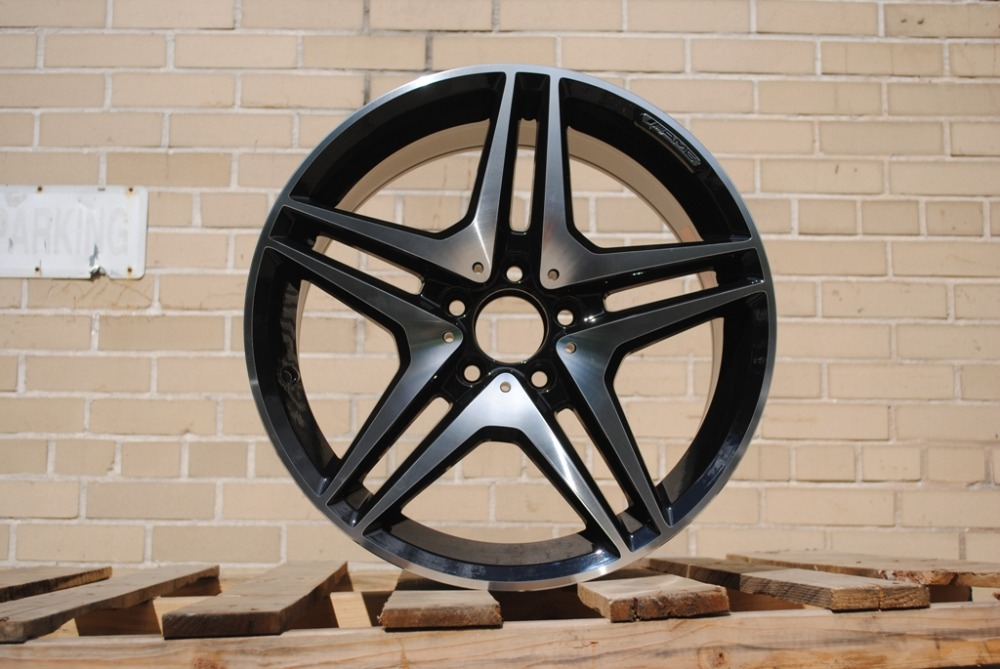 4 new 18x9 5 rims wheels for mercedes benz black amg rims for Mercedes benz mag wheels