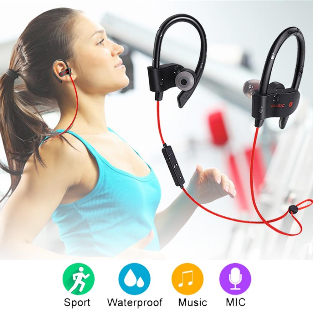 Sport Running Earphone Wireless headphones Bluetooth Headset SweatProof Stereo Earbuds In-Ear Earphones with Mic for iPhone