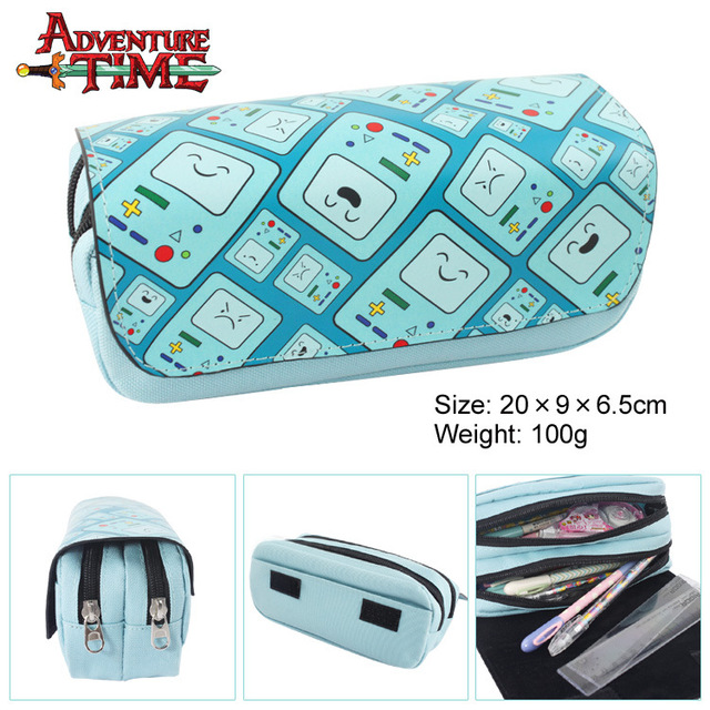 Adventure time Pen Wallet game characters BOM beep Mo multifunctional large capacity double zipper bag wallet