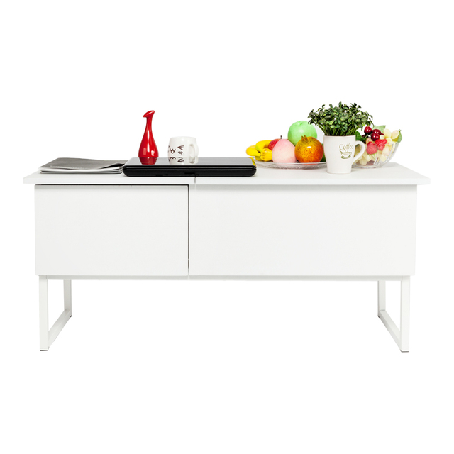 Lift Top Coffee Table White 2