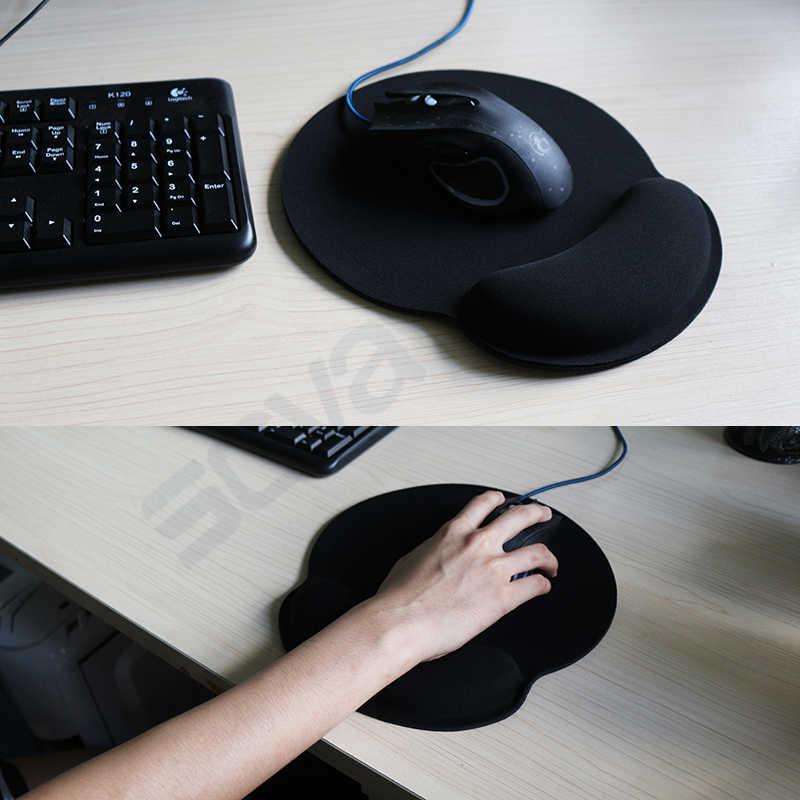 Alfombrilla de ratón de esponja suave antideslizante alfombrilla ergonómica muñequera de gel soporte Gaming alfombrilla para ratón saludable para ordenador PC juego