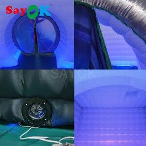 Image 5 - Yeni stil kamera şekli şişme fotoğraf kabini şişme çadır düğün Booth düğün reklam için parti olay (1 ücretsiz Logo)