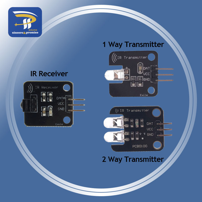 IR Modulo Trasmettitore A Raggi Infrarossi IR Digital 38KHz 5V 1 Canale 2 way Ricevitore A Infrarossi Modulo Sensore Per Arduino