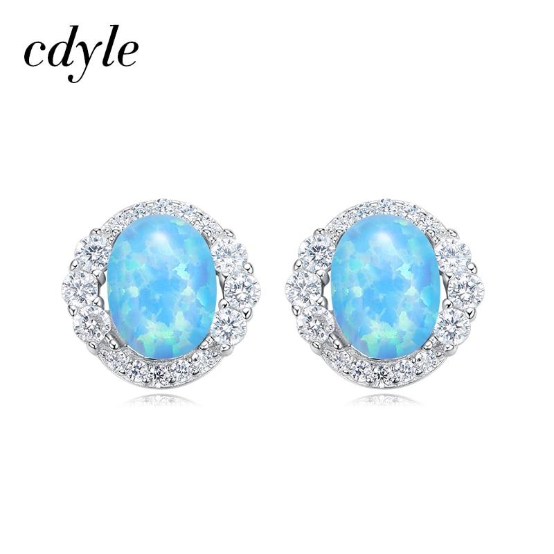 Elegant Blue Cat Crystal S925 Silver Stud Earrings with Swarovski Elements Trendy Accessory