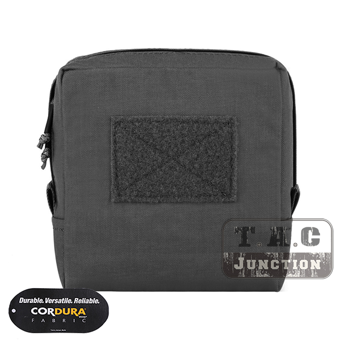 EmersonGear Tactical MOLLE 7 x 7 Utility Pouch Accessories Storage Bag Medical Admin Pouch Tool Organizer Black / BK