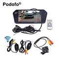 "Bluetooth Wireless Parking Assistance 7"" Resolution TFT LCD Car Rearview Monitor MP5 & Night Vision Backup Camera Car-styling"