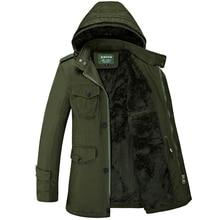 Plus Size Winter Jacket Men Fashion Outwear Coat Cotton Padded Long Thick Warm Fleece Jacket Casual Parka Men Overcoat 5XL 6XL