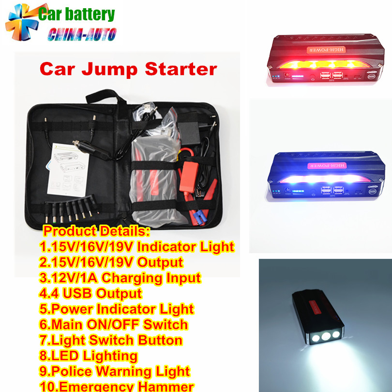 Multi-Function Mini Portable Emergency Battery Charger Car Jump Starter Booster Starting Device Power Bank