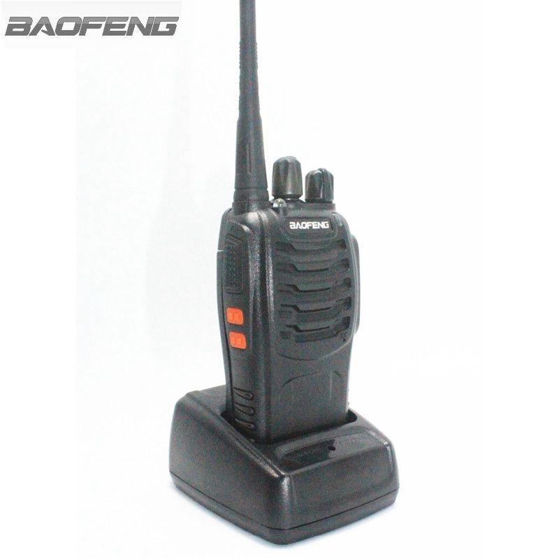 BaoFeng BF-888S Walkie Talkie Schwarz 3 Watt UHF 400-470 MHz Frequenz Bewegliche Radio Set Amateurfunk Hf Tran mit Hörer