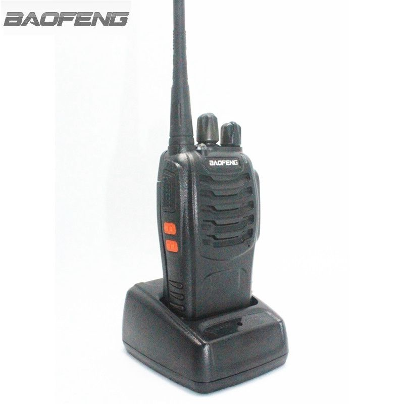 BaoFeng BF-888S Talkie Walkie Noir 3 w UHF 400-470 mhz Fréquence Radio Portable Ham Radio Hf Tran avec Écouteur