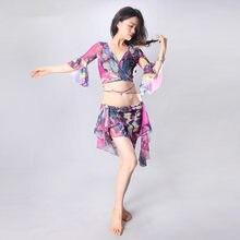 fc85924ba Oriental dancing costume Belly dance swing Indian Egyptian dance costumes  Bellydance baladi bra belt skirt dress