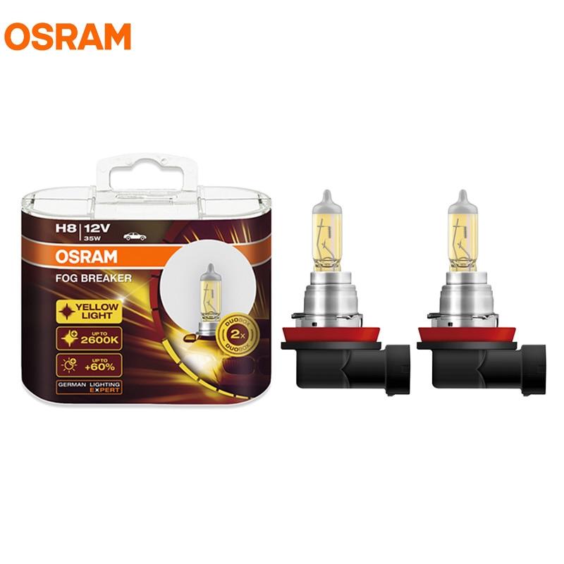 OSRAM H8 12V 35W 2600K 62212FBR PGJ19 1 Fog Breaker Series Xenon Super Yellow Fog Bulbs