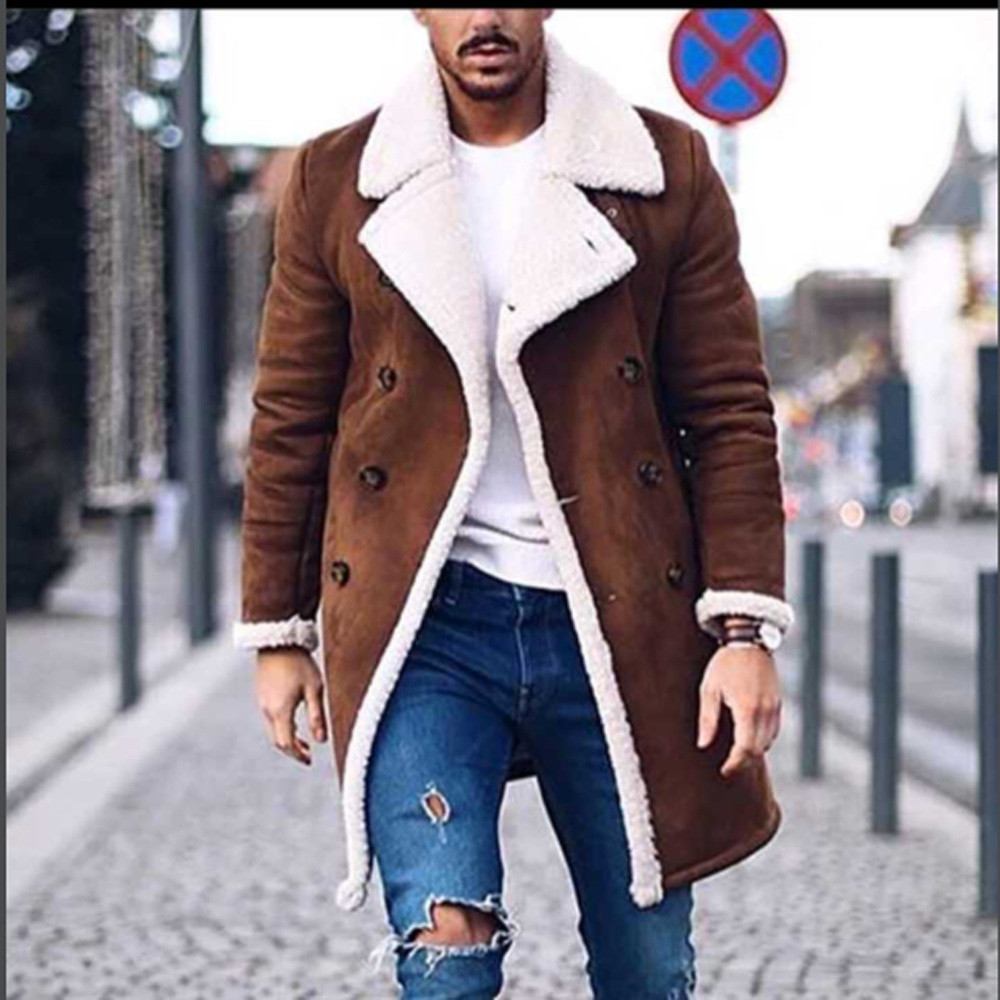 Jackets & Coats Jaycosin Mens Wool Warm Winter Trench Long Outwear Button Smart Overcoat Coats Waterproof Windproof Winter Jacket Men