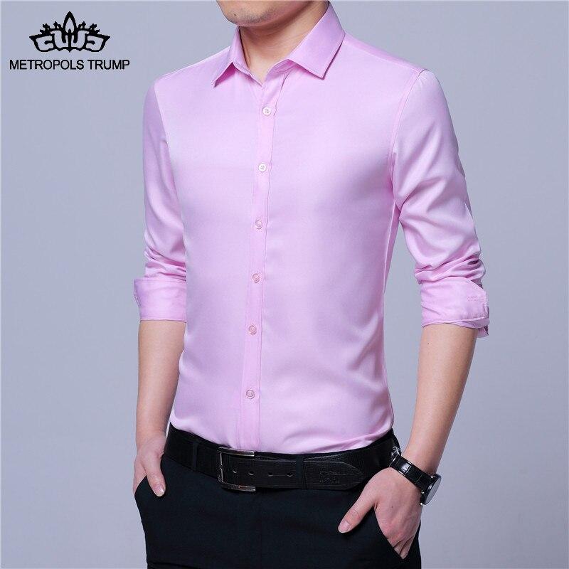 طويلة الأكمام الصلبة اللون سليم - ملابس رجالية