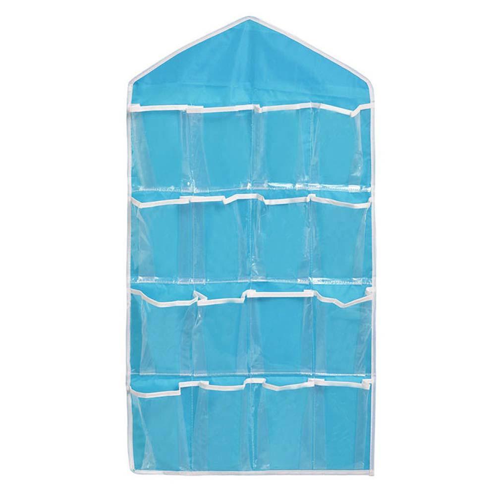 Hanging Closet Shoe Organizer Part - 49: 16 Pocket Over Door Hanging Bag Shoe Rack Hanger Storage Tidy Organizer  Blue Closet Shelves Diy Closet Organizer -in Storage Bags From Home U0026  Garden On ...