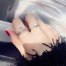 Crown Simple 2 in 1 Ring Party 1 piece Fashion Index finger