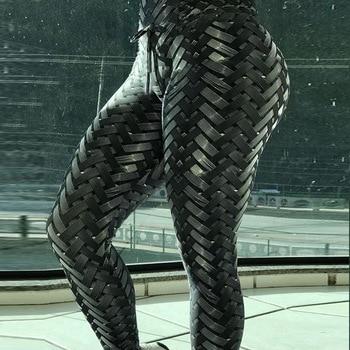 2018 Sexy Women High Elastic Fitness Sport Leggings Yoga Pants Slim Running Tights Sportswear Sports Pants Trousers Clothing 1