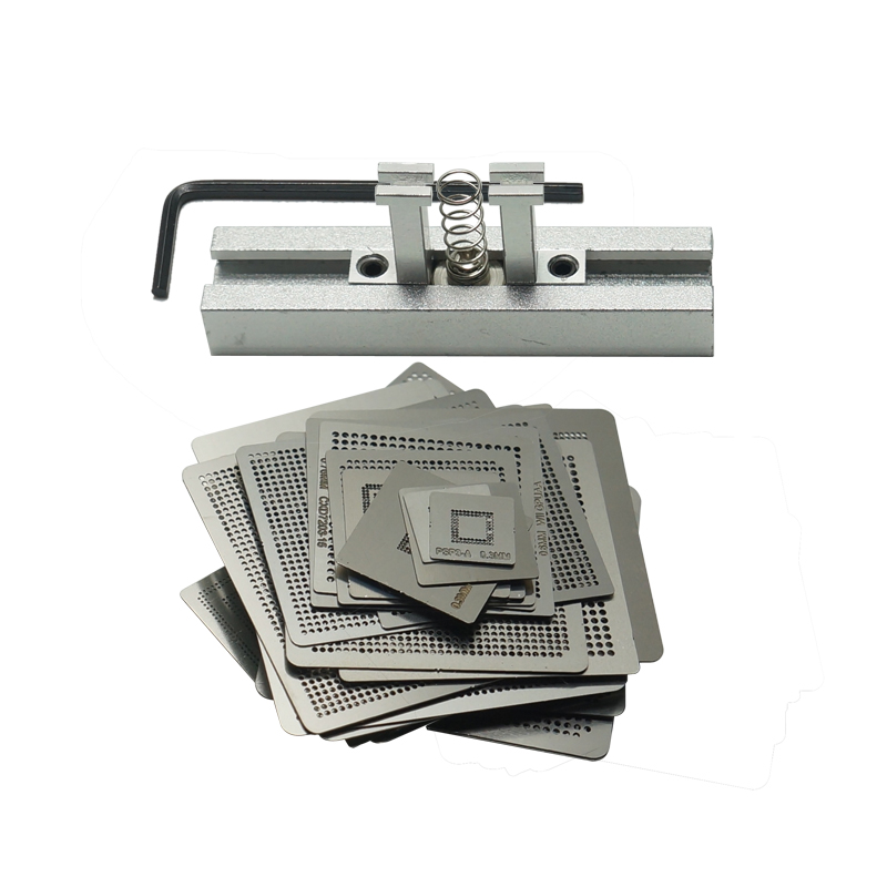 47pcs/set Game Consoles Directly Heating BGA Stencil With Holder Jig For XBOX 360CPU PS3-CPU WII GPU CXD2949CGB
