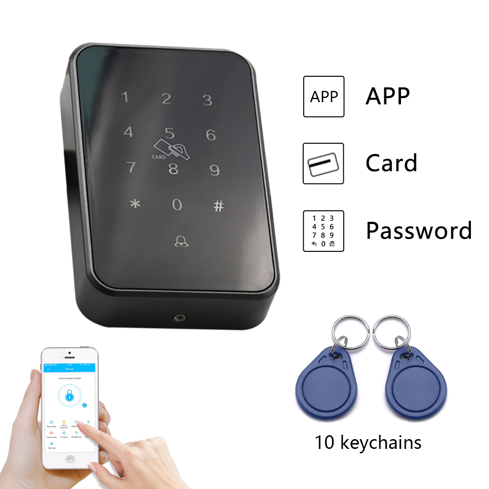 RFID Access Control System App WiFi Remote Control Keypad Password Card Bluetooth Access Reader vehicle bluetooth rfid access control system for parking