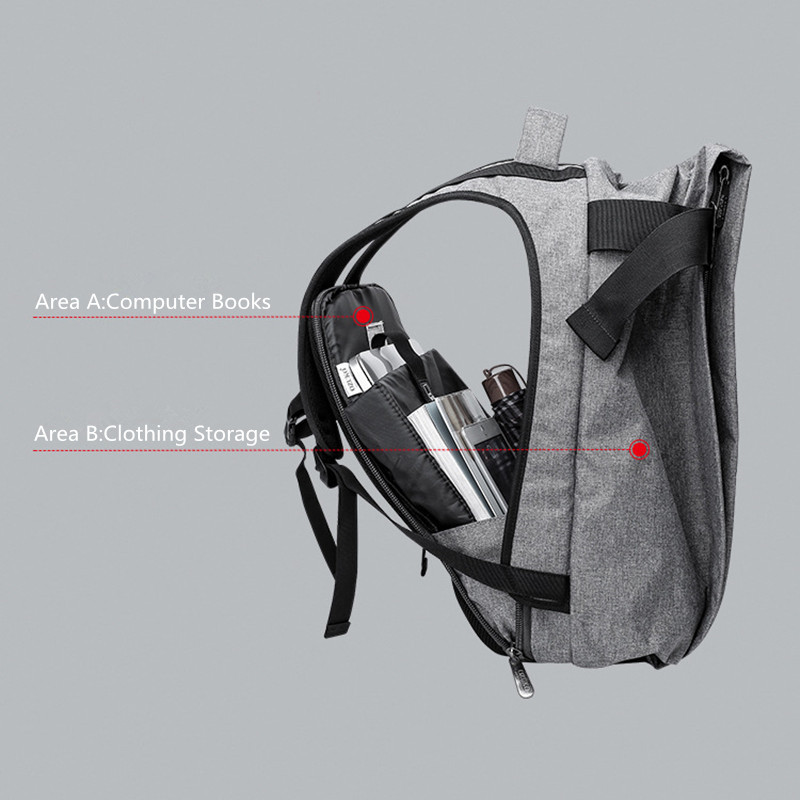 OZUKO moda coreana mochila para ordenador portátil para hombre 15,6 bolsa de viaje de gran capacidad mochila antirobo mochila escolar Casual impermeable