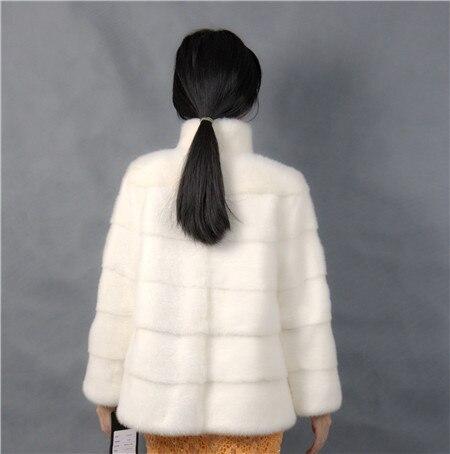2019 Winter Frau Mode mit einem Kragen kurze weiße Farbe - Damenbekleidung - Foto 5