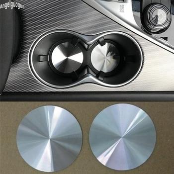58mm metalowe dla Infiniti Q50 Q60 Q70 QX50 QX60 QX70 QX80 QX30 Q30 G M FX EX JX naklejki samochodowe osłonka uchwytu na kubek mata wykończenia dekoracyjne