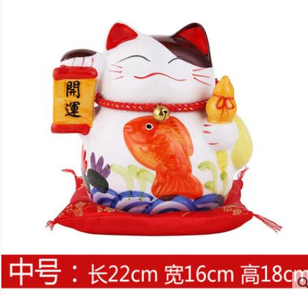 A Lucky cat ornaments ceramic piggy bank piggy home furnishings lovers wedding gifts shop opened living room small ornaments